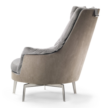 Guscioalto Light Lounge Chair - Swivel