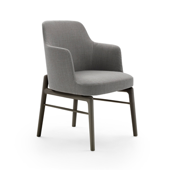 Leda Dining Chair with Arms - Wood