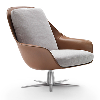 Sveva Lounge Chair and Ottoman - In Our Showroom