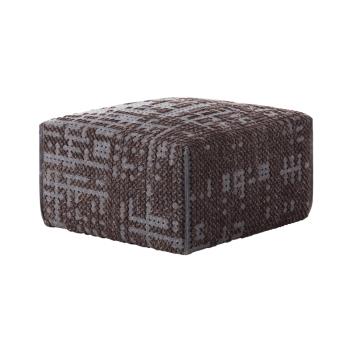 Canevas Square Charcoal Ottoman