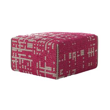 Canevas Square Pink Ottoman
