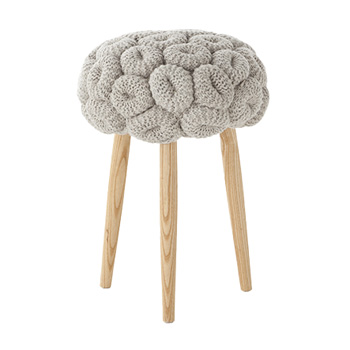 Knitted Gray Stool