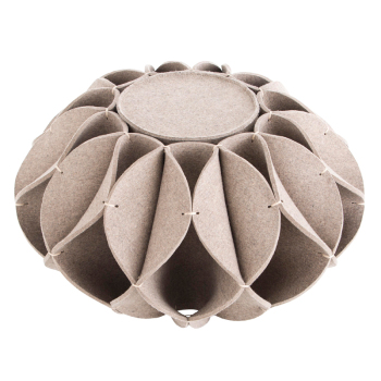 Ruff Ottoman - High Gray