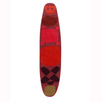 Surf Race Indico Red Rug
