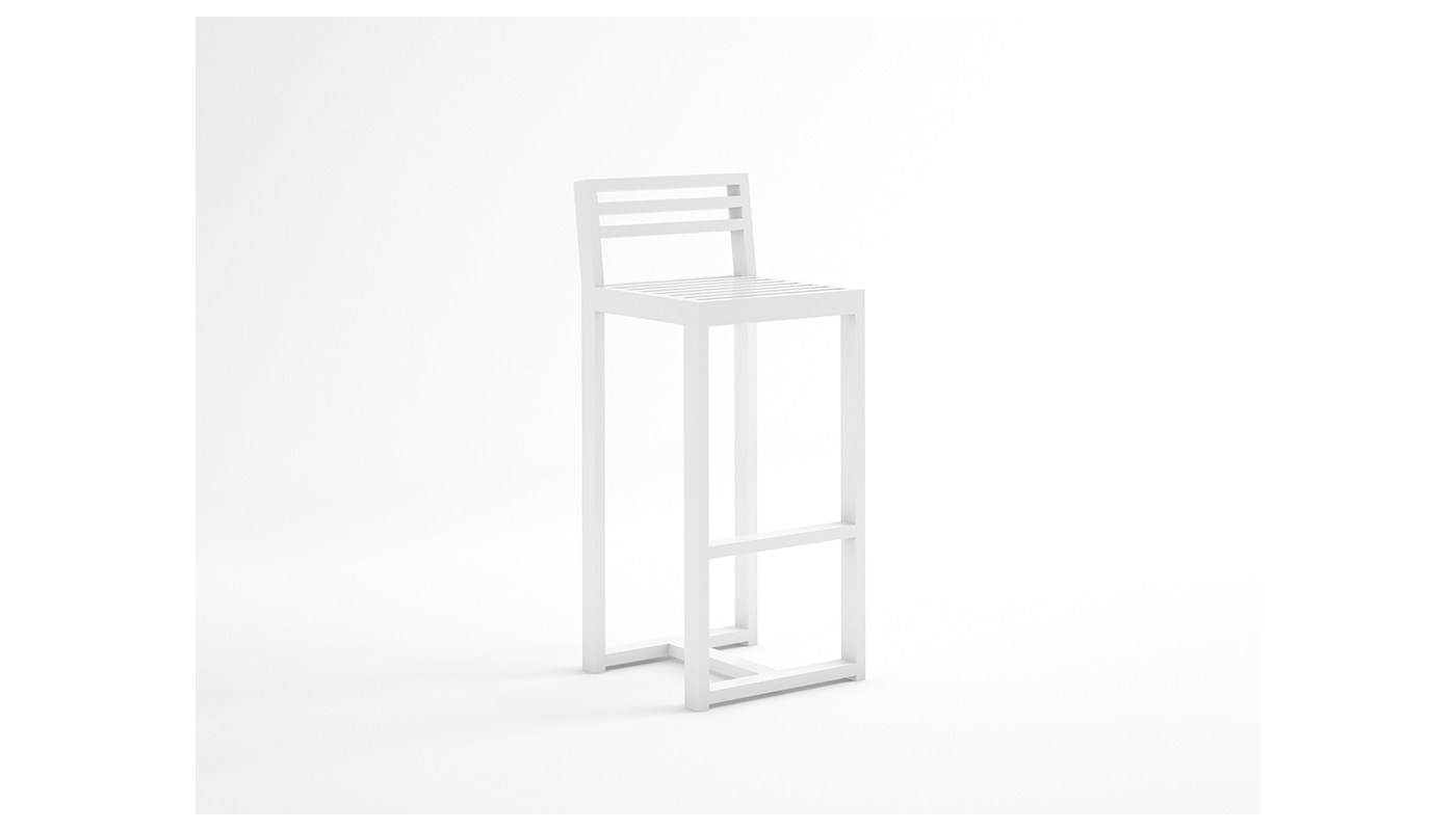 DNA Counter Stool with Backrest