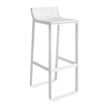 Flat Bar Stool with Backrest - In Our Showroom
