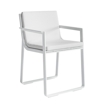 Flat Dining Chair with Arms