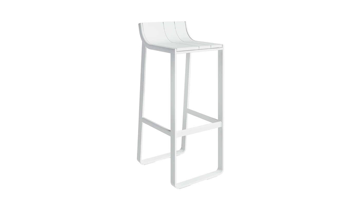 Flat Bar Stool with Backrest