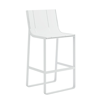 Flat Bar Stool with High Backrest