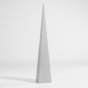 Pyramid Outdoor Floor Lamp - Quickship