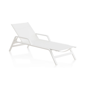 Stack Chaise Longue with Arms
