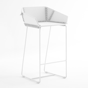 Textile Counter Stool with Backrest