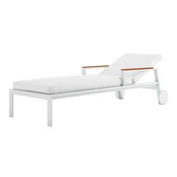 Timeless Chaise Longue with Arms