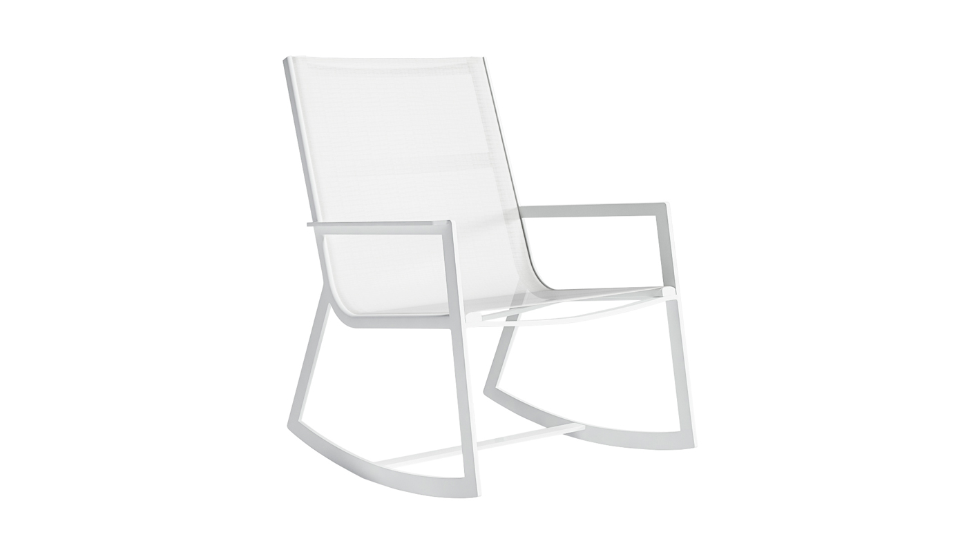 Flat Textil Rocking Chair