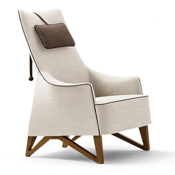 Mobius Bergere Lounge Chair with Headrest