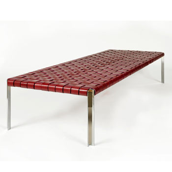 TG-18 Woven Leather Bench