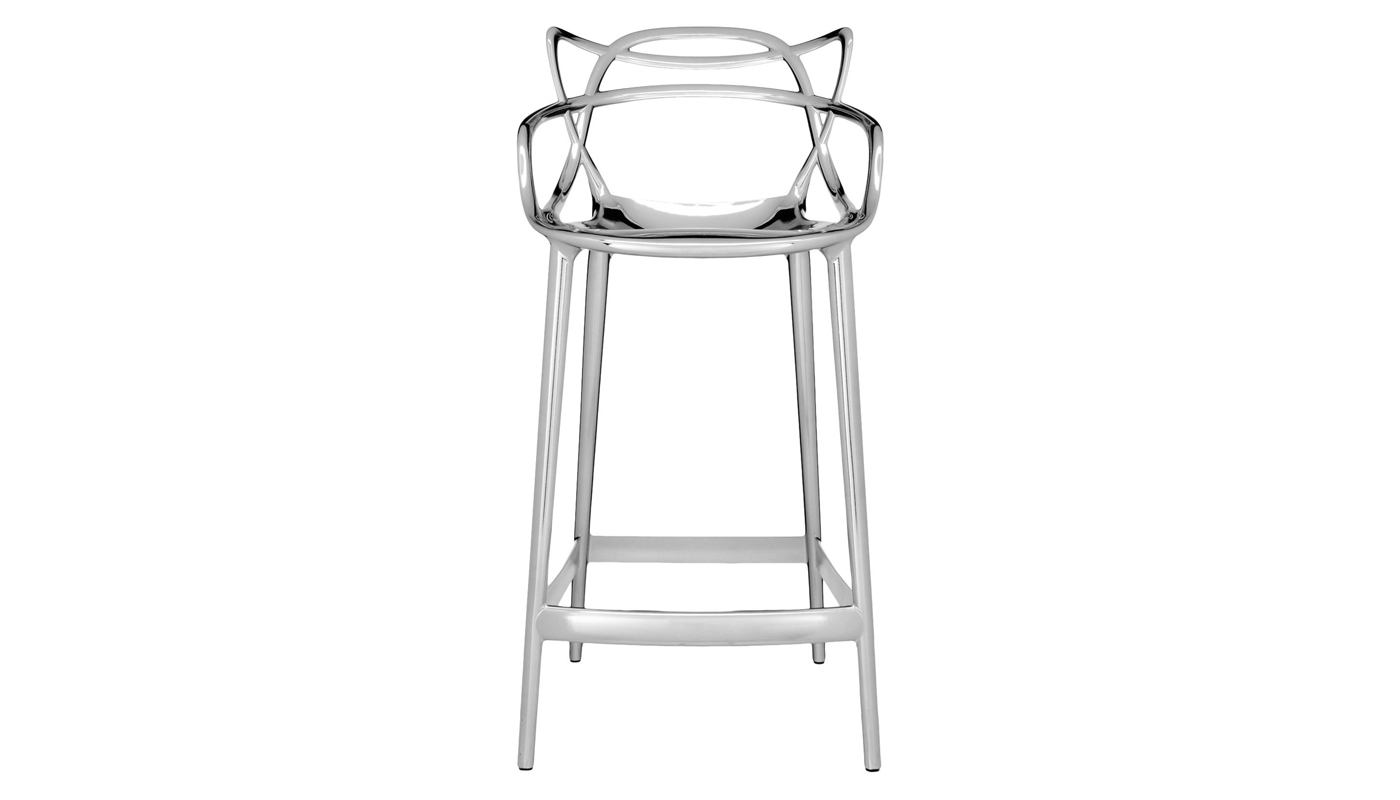 Masters Stool - Chrome - Quickship