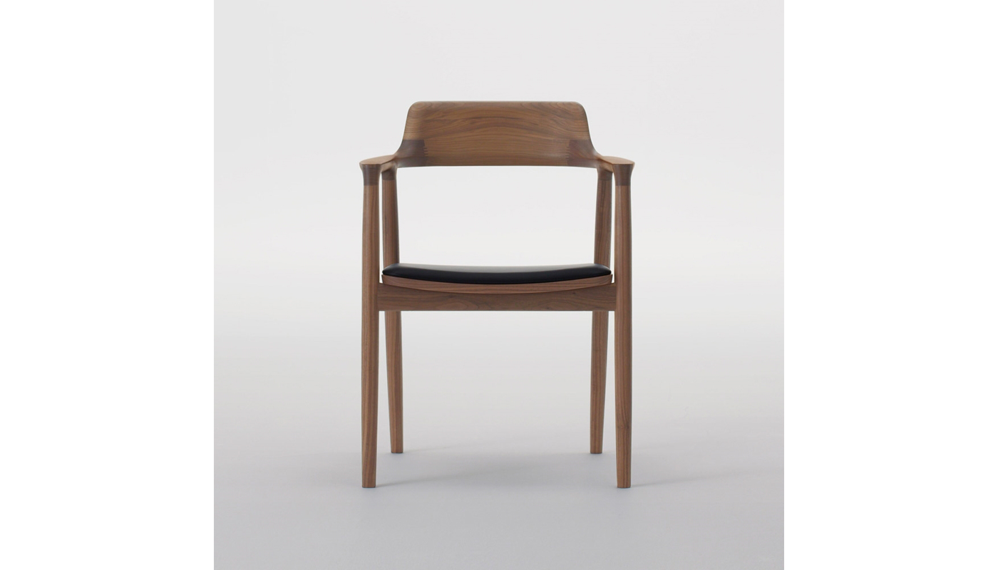 Hiroshima Dining Chair with Arms - Cushioned Seat