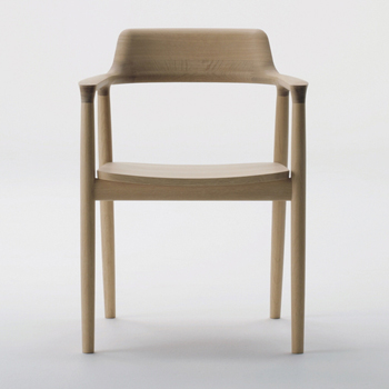 Hiroshima Dining Chair with Arms - Wooden Seat