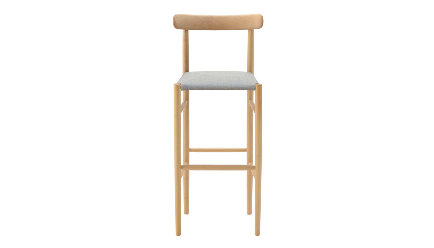 Lightwood Bar Stool - Cushioned Seat with Back