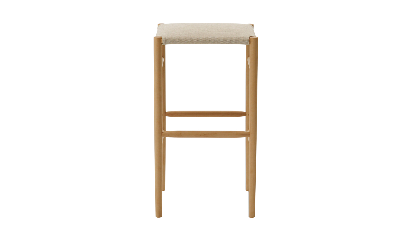 Lightwood Bar Stool - Cushioned Seat
