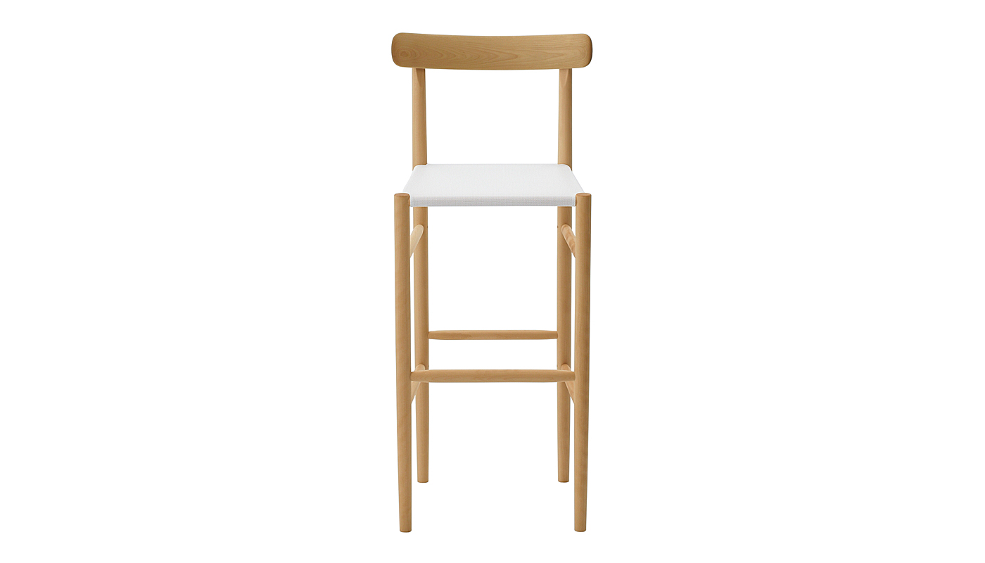 Lightwood Bar Stool - Mesh Seat with Back