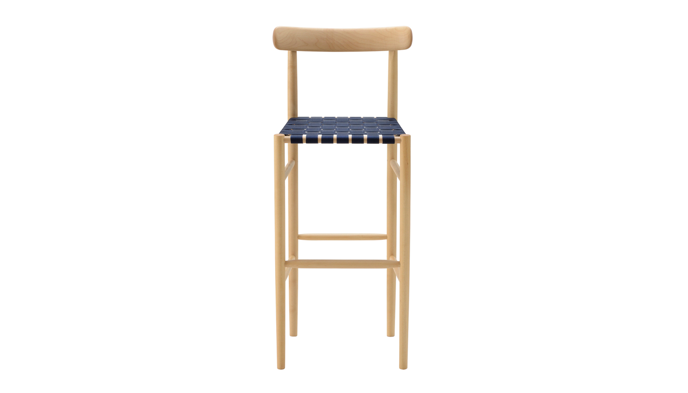Lightwood Bar Stool - Webbed Seat with Back