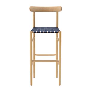 Lightwood Bar Stool - Webbed Seat with Back