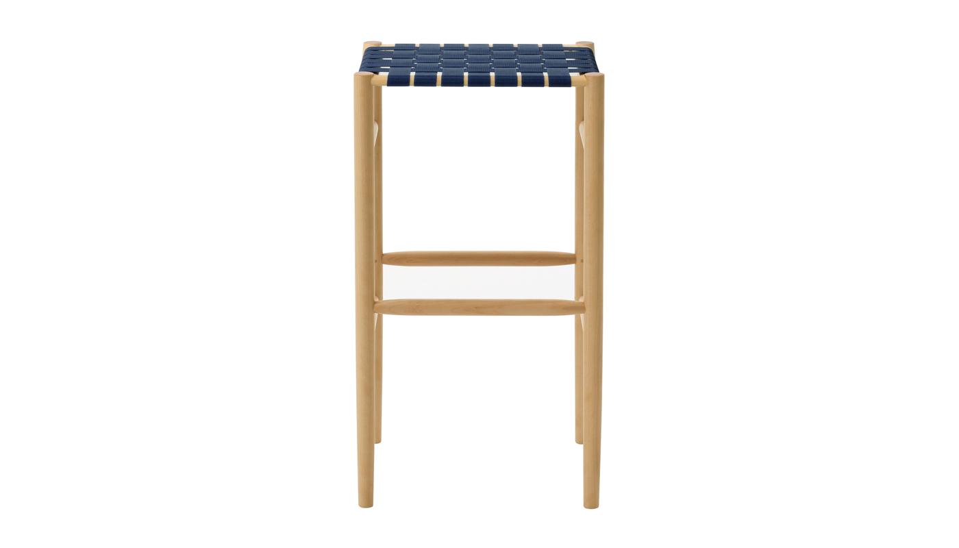 Lightwood Bar Stool - Webbed Seat