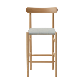 Lightwood Counter Stool - Cushioned with Back