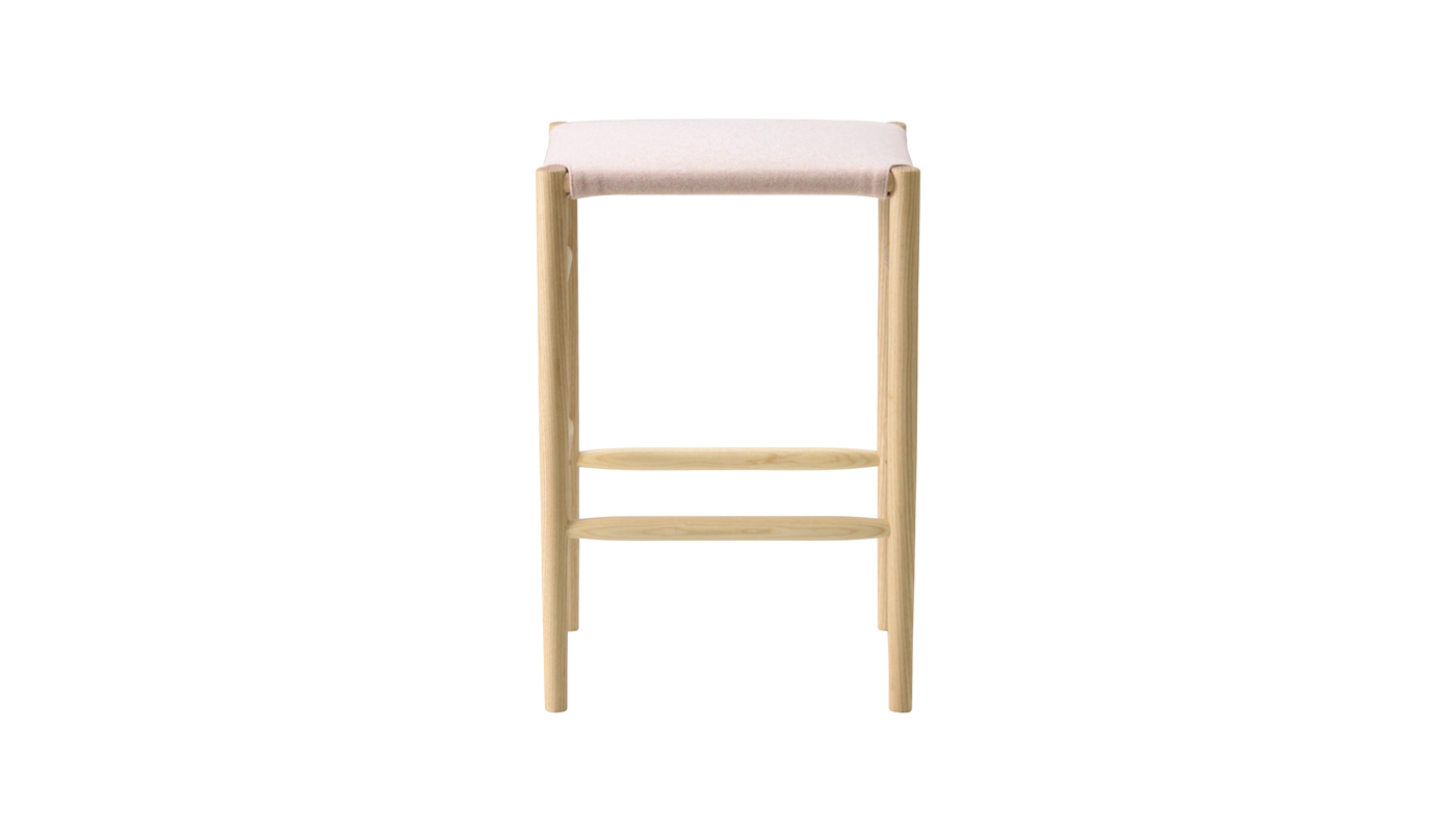 Lightwood Counter Stool - Cushioned Seat