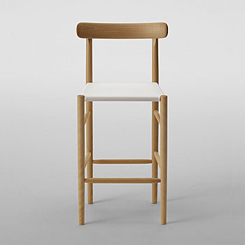 Lightwood Counter Stool - Mesh with Back