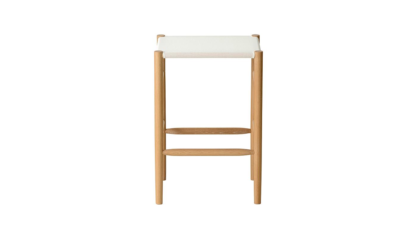 Lightwood Counter Stool - Mesh Seat