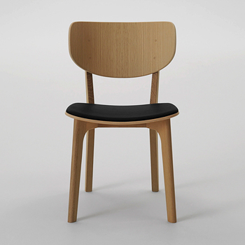 Roundish Dining Chair - Cushioned Seat