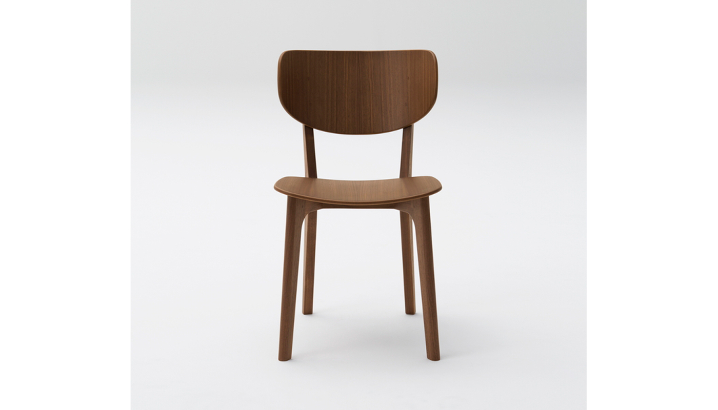 Roundish Dining Chair - Wooden Seat