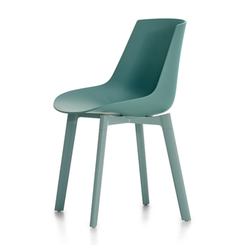Flow Dining Chair - 4-Leg Cross Base