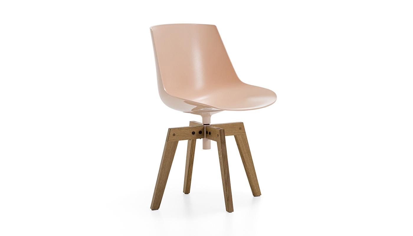 Flow Dining Chair - 4-Leg Oak