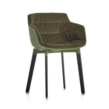 Flow Slim Dining Chair - 4-Leg Cross base