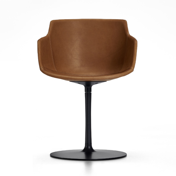 Flow Slim Leather Dining Chair