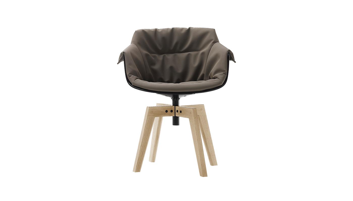 Flow Slim Dining Chair - 4-Leg Oak