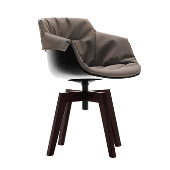 Flow Slim Dining Chair - 4-Leg Oak