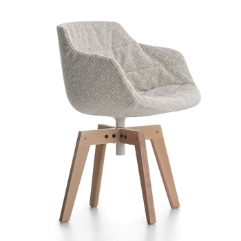 Flow Slim Textile Dining Chair