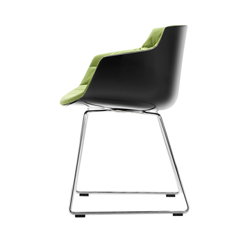 Flow Slim Dining Chair - Sled Base