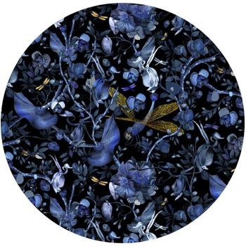 Biophillia Blue and Black Rug