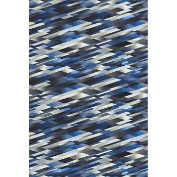 Diagonal Blue Rug