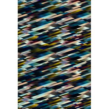 Diagonal Dark Rug