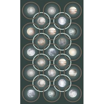 Planetas Green Rug - Rectangular