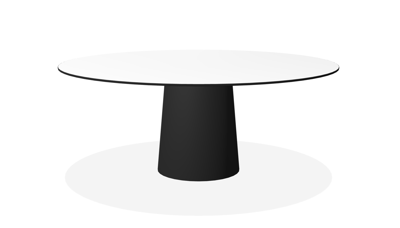 Container Dining Table - Classic Round