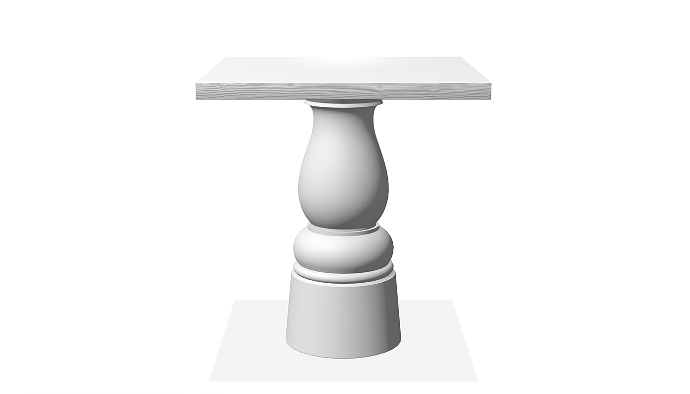 Container Dining Table - New Antiques Square