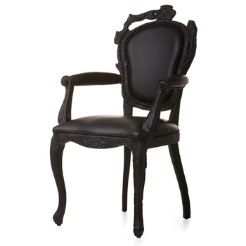 Smoke Dining Chair with Arms
